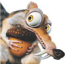 Draw and paint Scrat the Squirrel, Watch ICE AGE