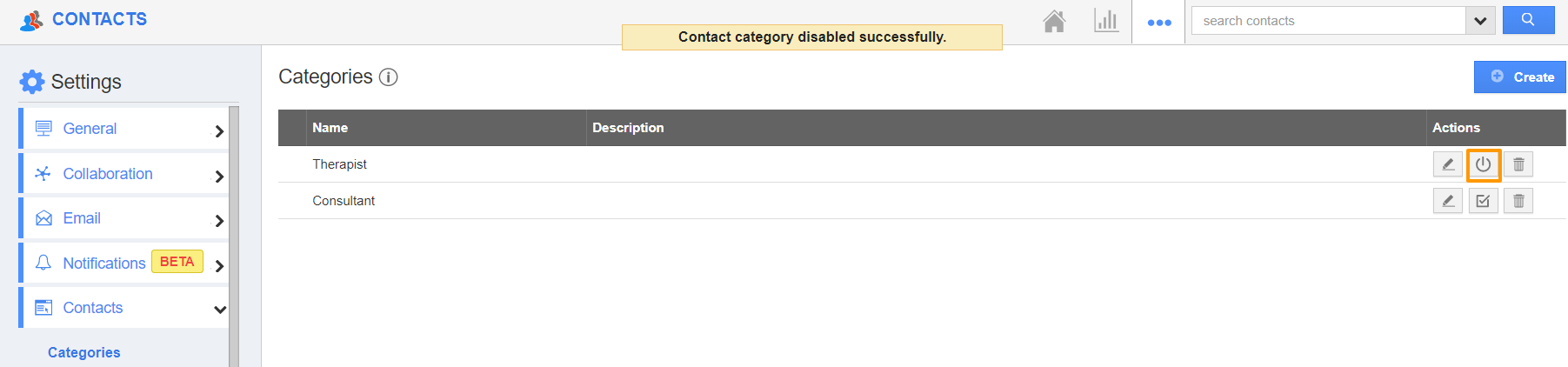 Disabled Category