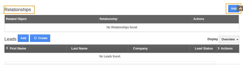 Adding Relationship