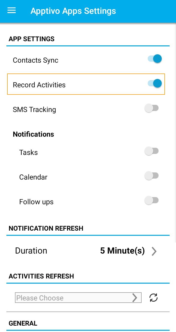 Record Activities