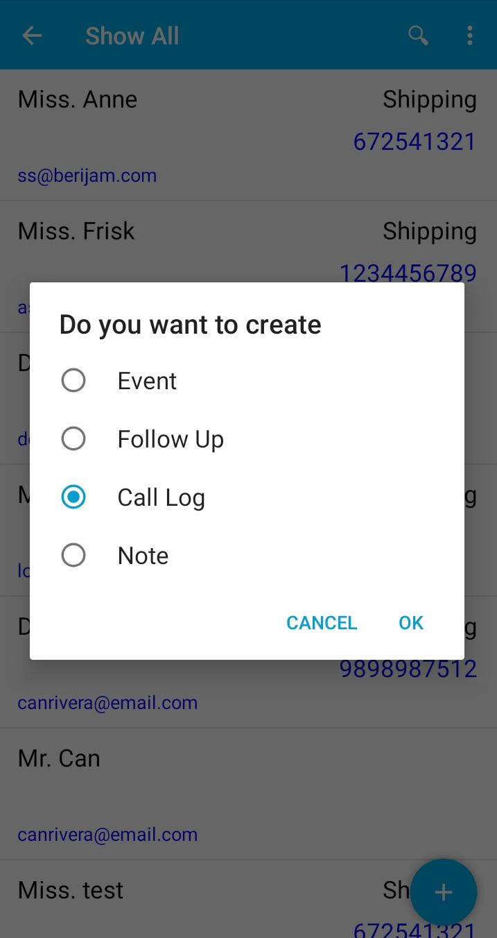 Create an activity