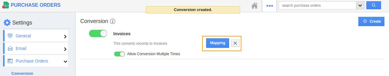 Create Conversion