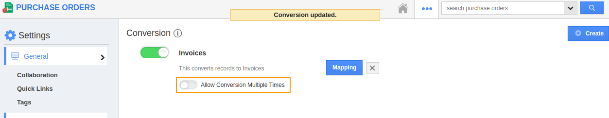Conversion Multiple Times Disabled