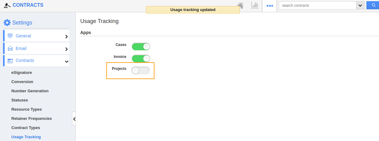 Disable Usage Tracking