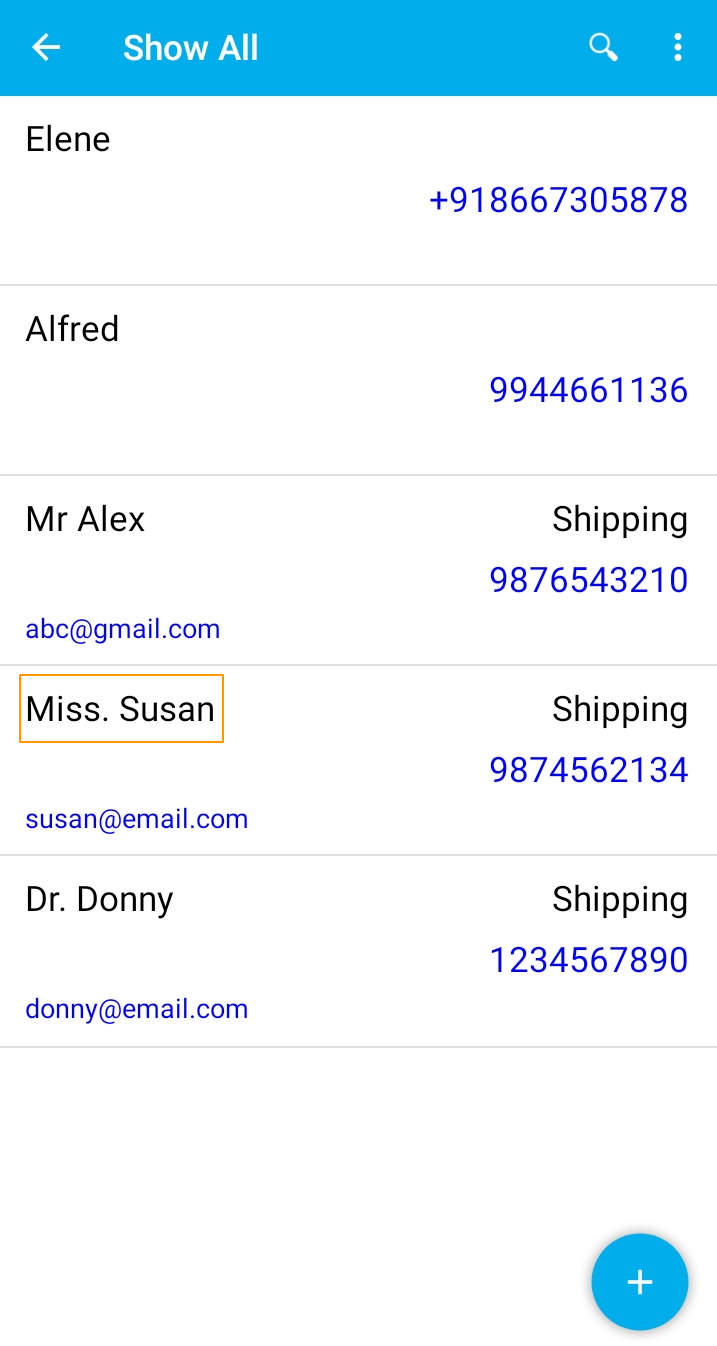 Select a Contact