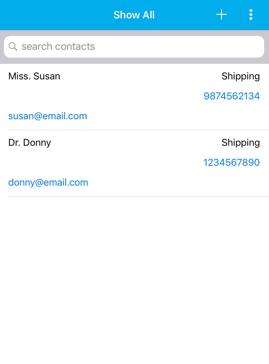 Contacts App