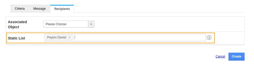Static Email Recepient