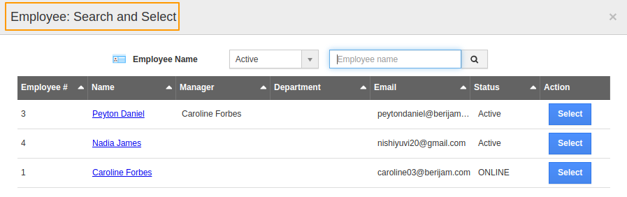 Employees Search