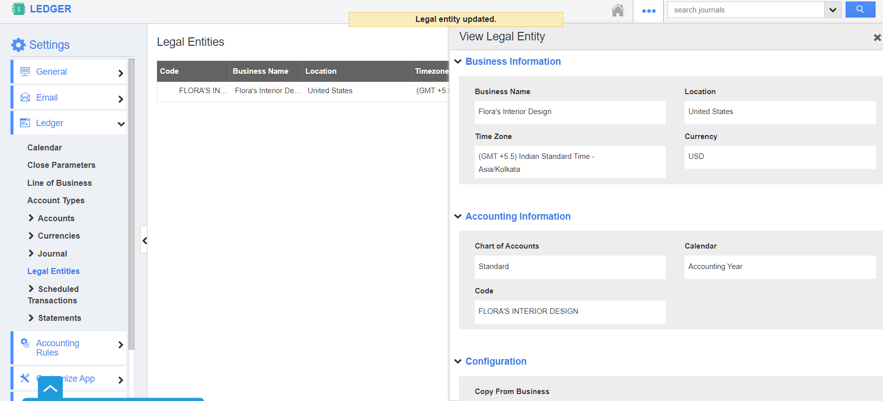 Legal Entity Updated