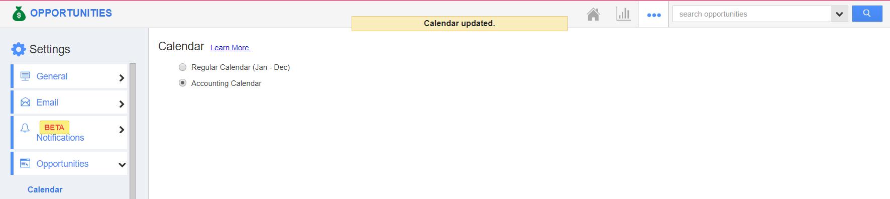 Opportunities Calendar Updated