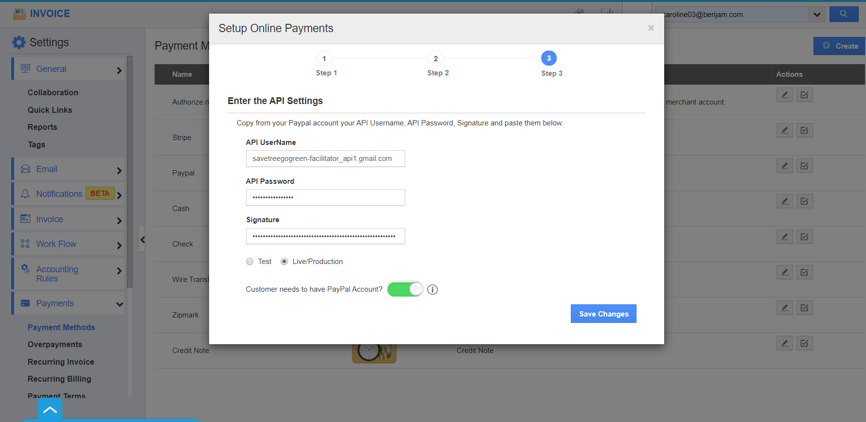 Create PayPal