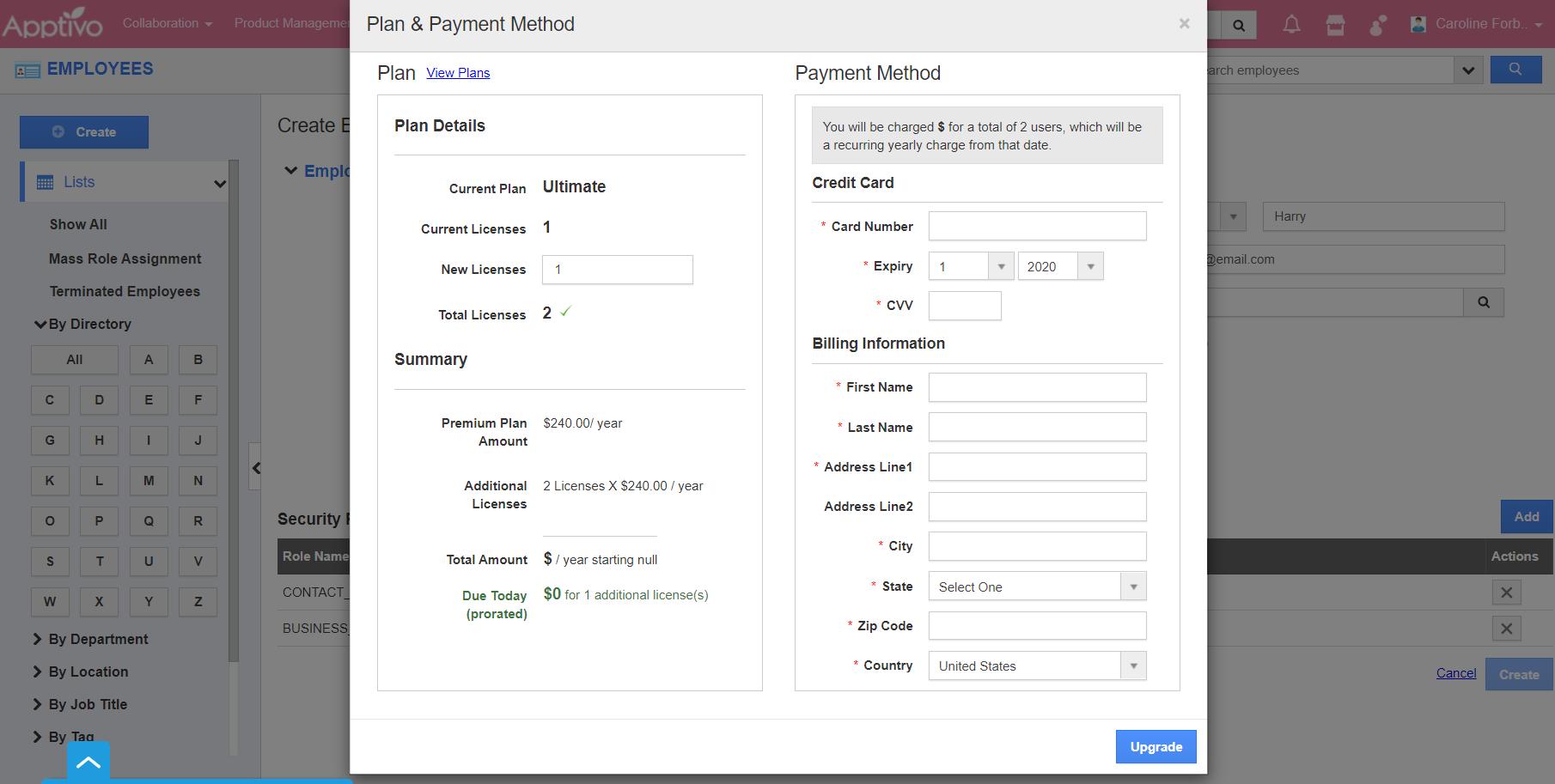 Plan Payment