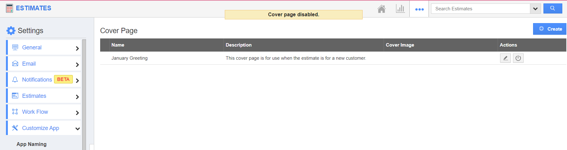 Disable Cover Page