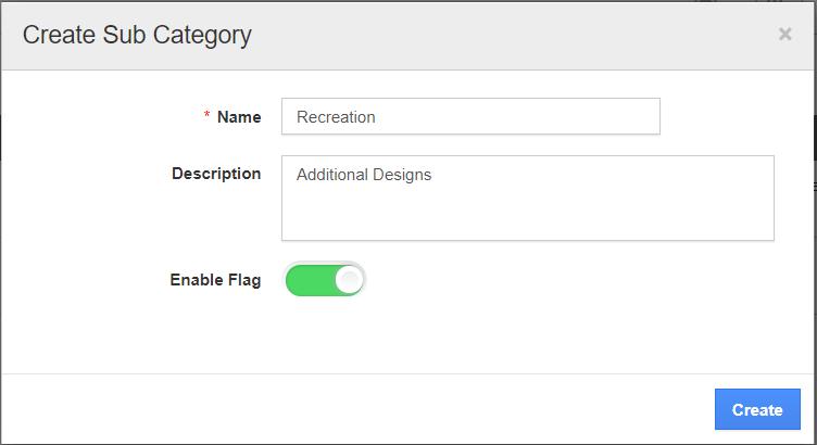 Create Sub Category