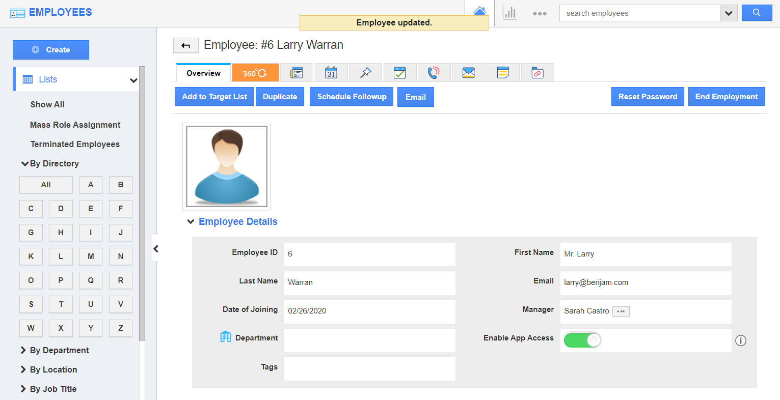 Manager Created