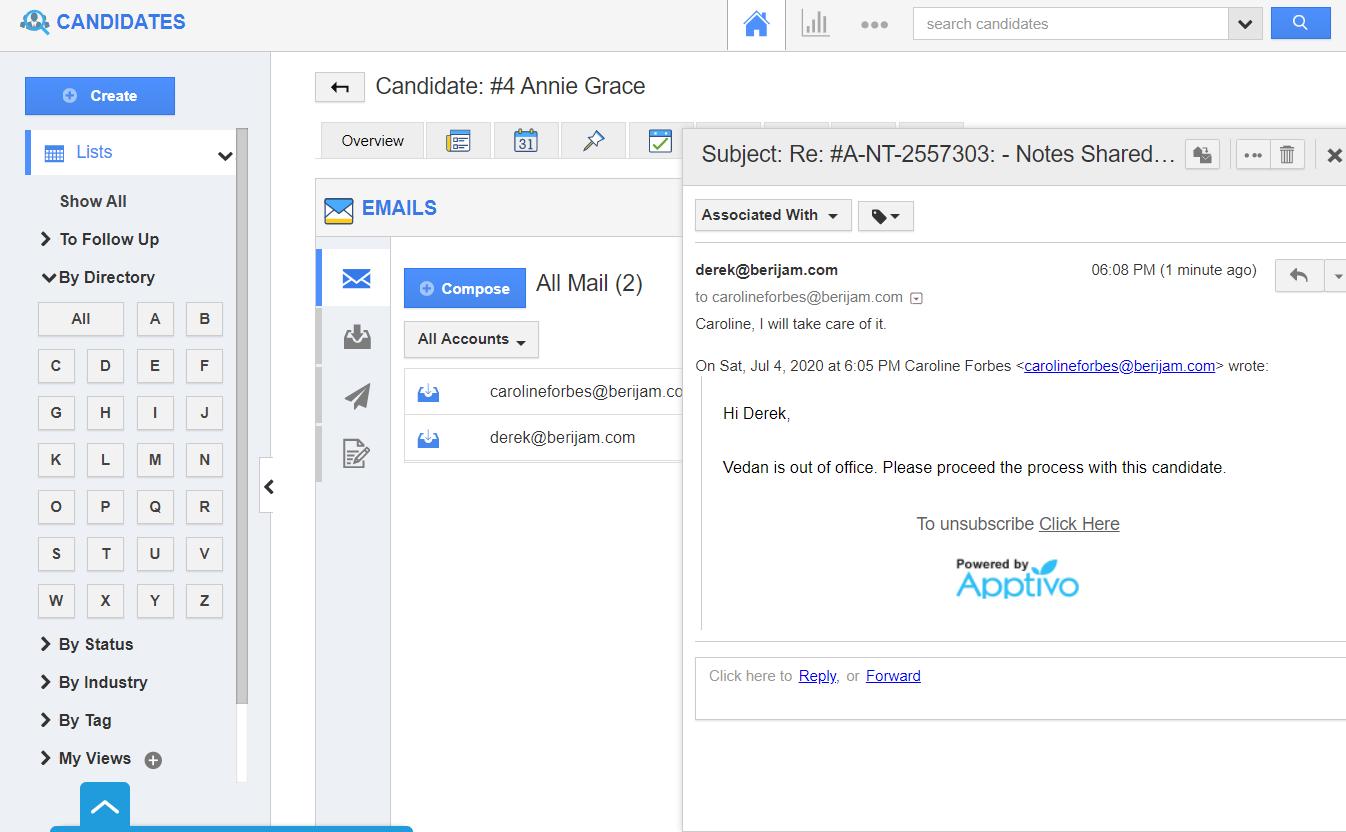 Emails App