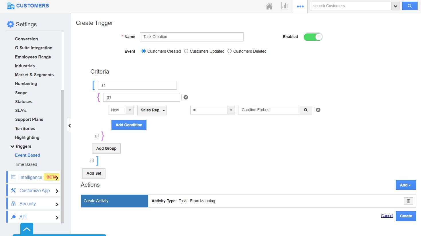 Trigger Configured
