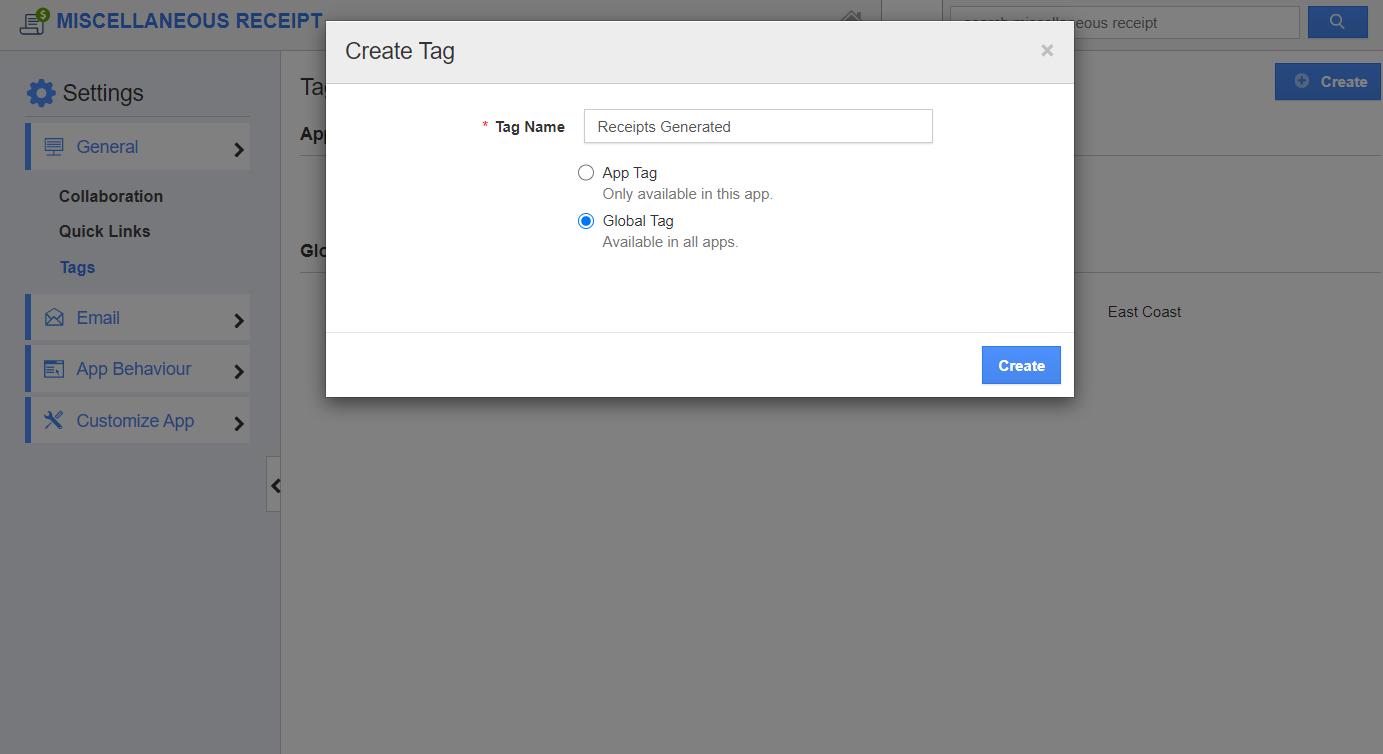 Create Global Tag