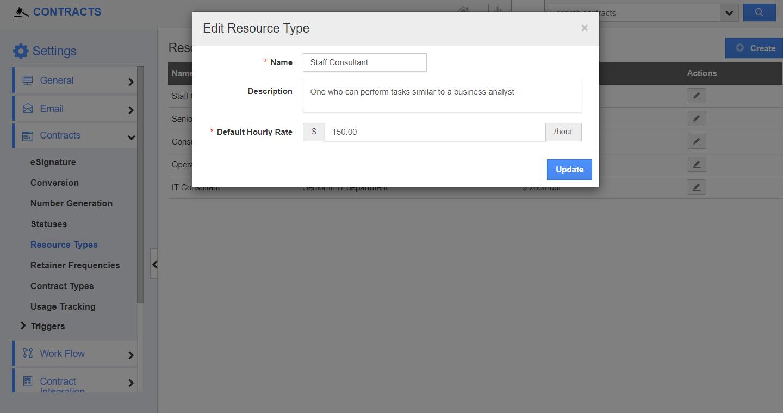 Edit Resource Type