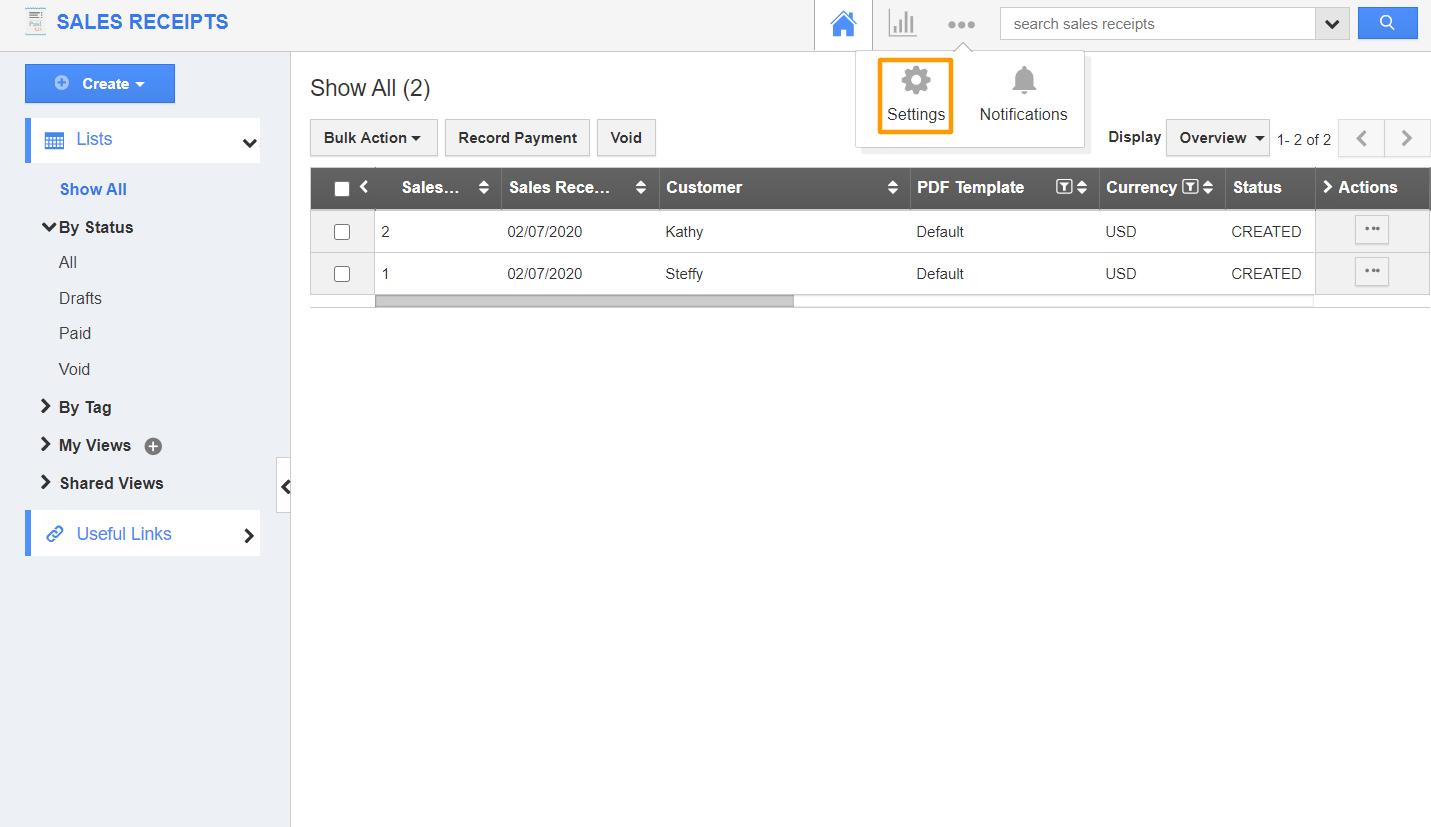 Sales Receipt App