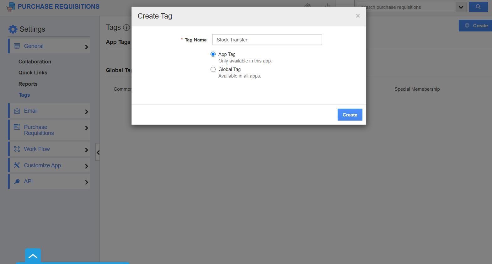 Create App Tag