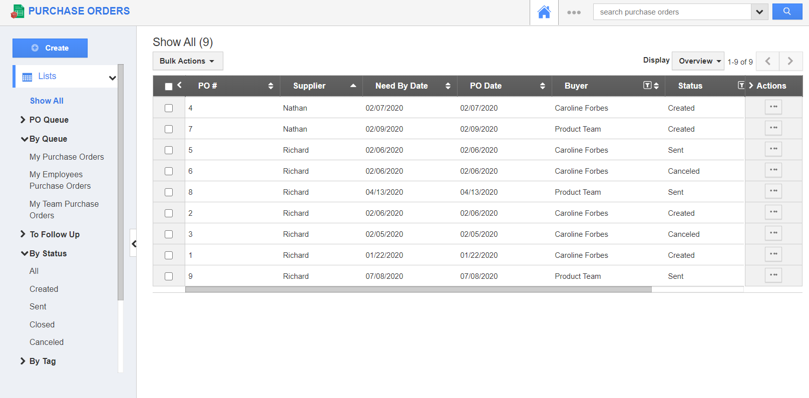 Purchase Orders App