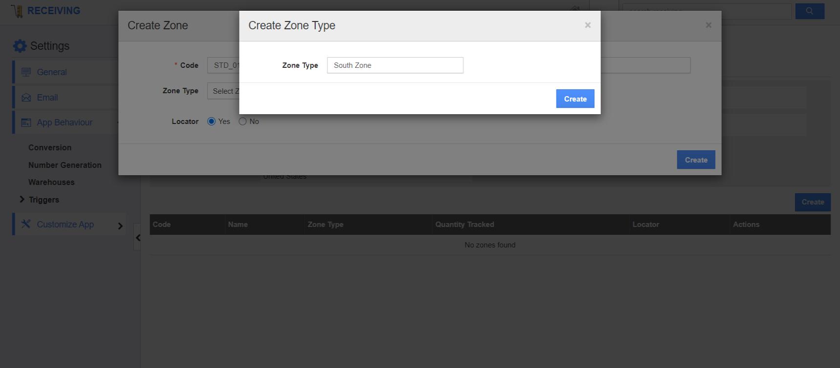 Create Zone Type