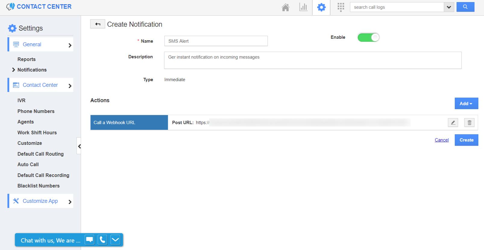 Notification Configured