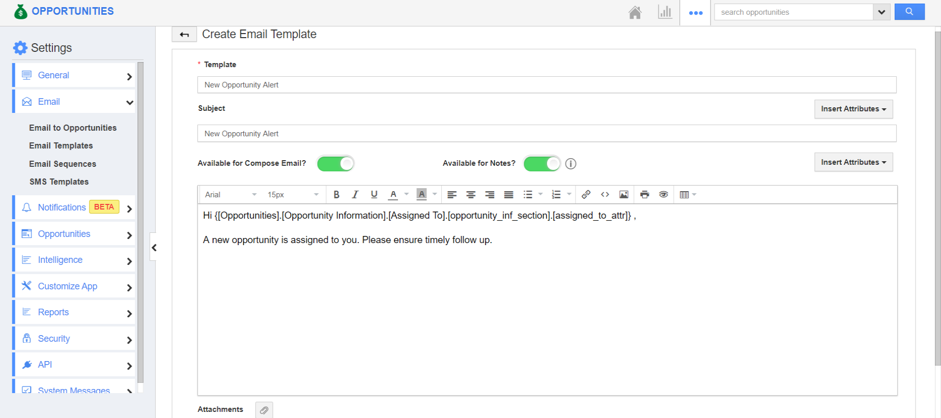 Create Email Template