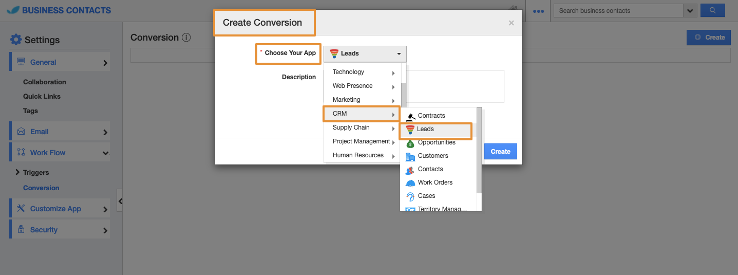 Create Conversion