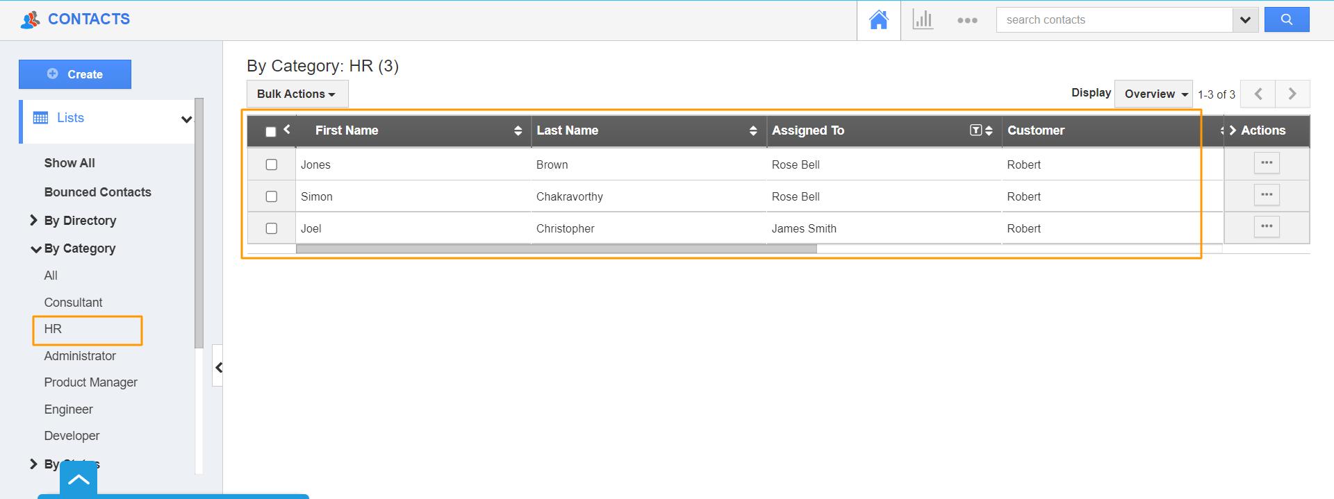 HR Category