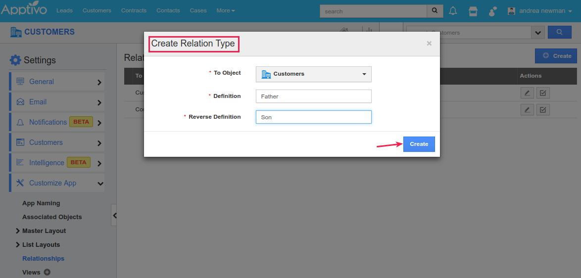 create relation type