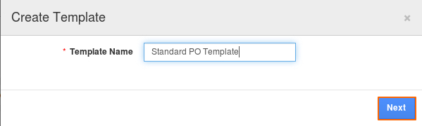 Standard PO Template creation