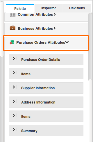 Purchase Orders Attributes