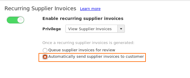 Automatically Send Invoices
